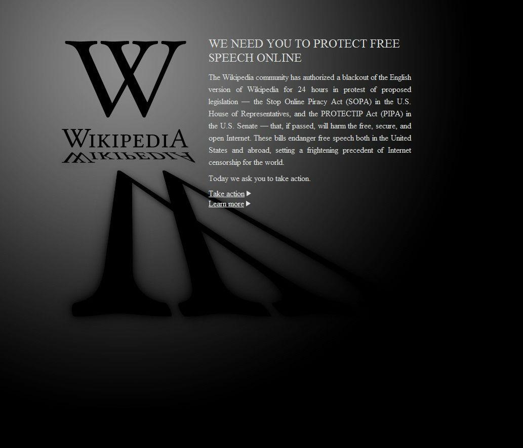 Il web sciopera