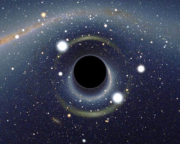 Il buco nero in punta di chip