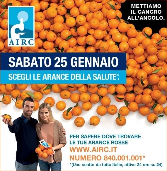 Tornano le arance della salute dell'Airc