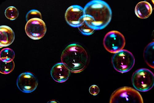 Comunicare con le bolle di sapone