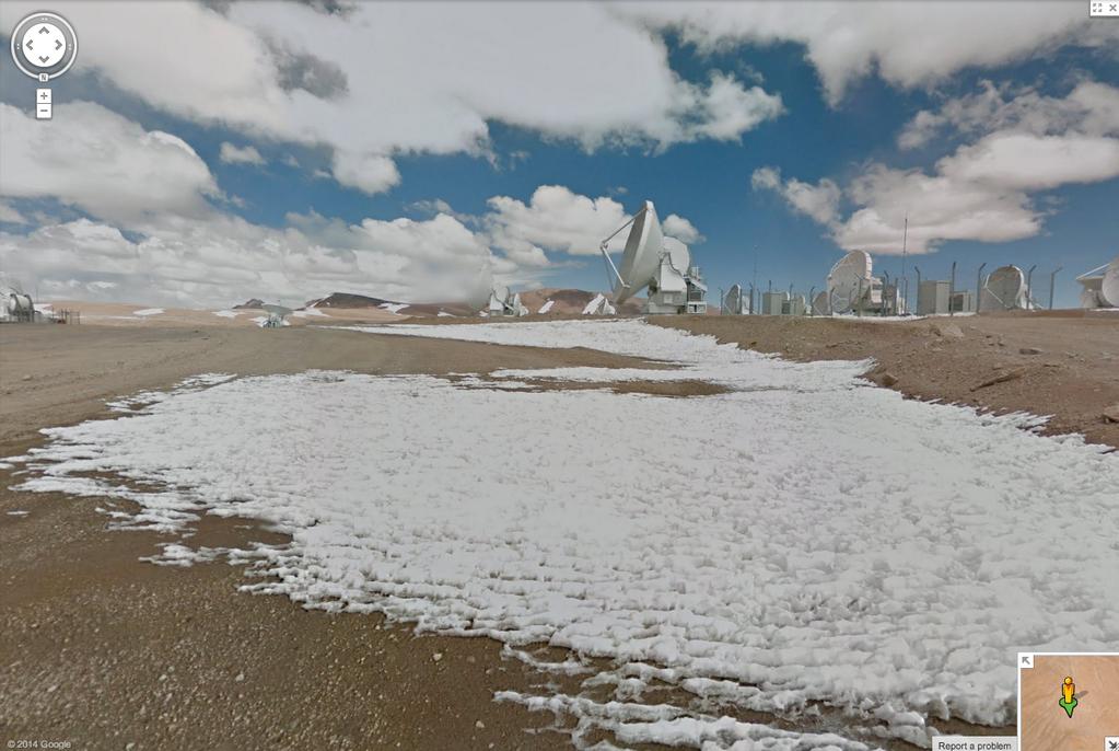 Street View tra i telescopi del deserto