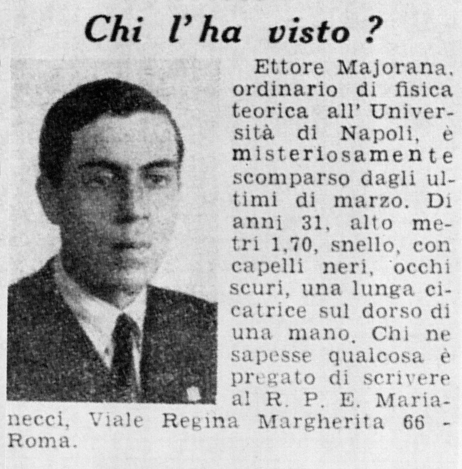 La fuga sudamericana di Ettore Majorana