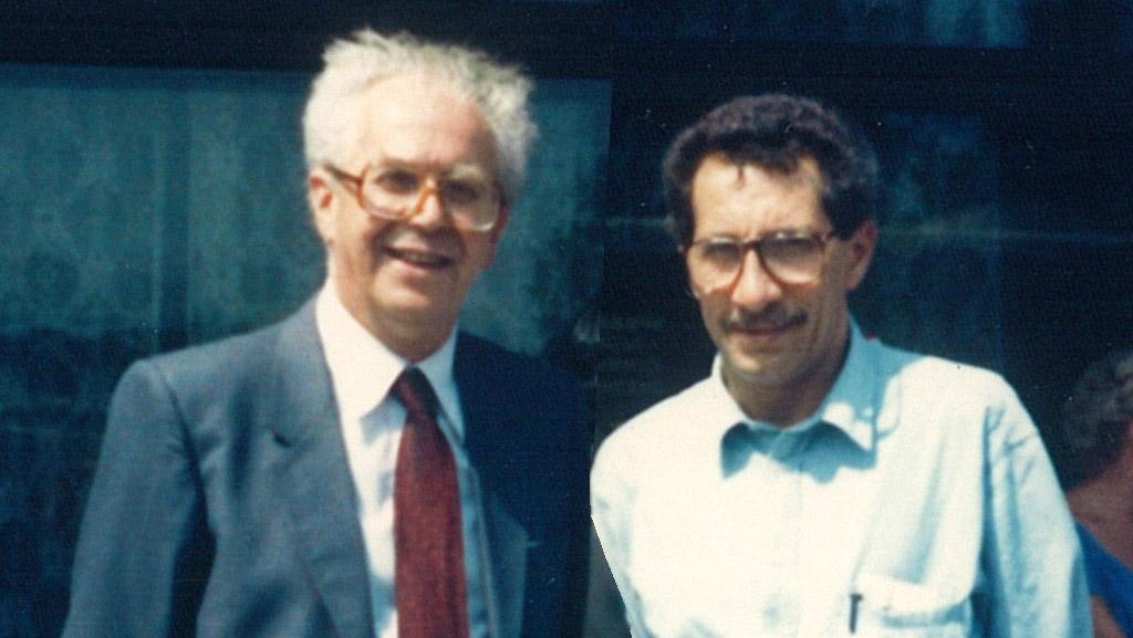 Carlo Bernardini e FrancescoLenci al Forum dell'Accademiadelle Scienze dell'UnioneSovietica, Mosca 1987.