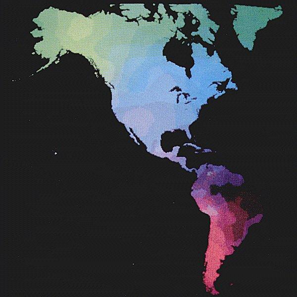 Cavalli Sforza: mappa delle regioni etniche in America