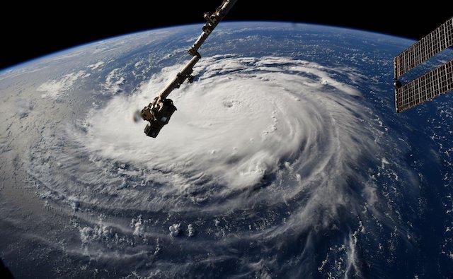Uragano Florence visto dal satellite