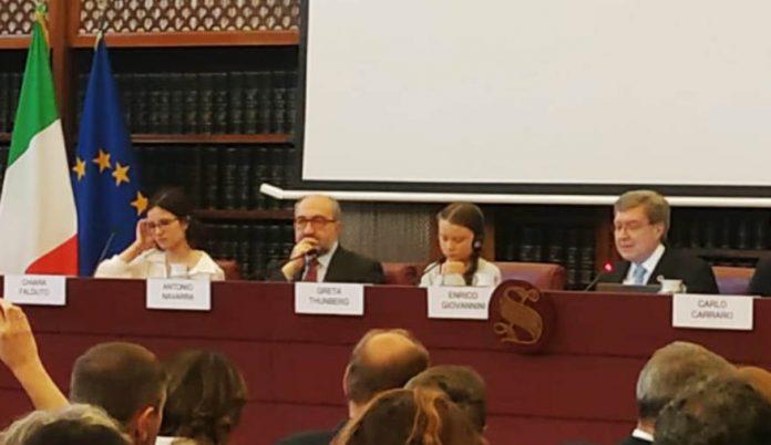 Greta Thunberg senato clima roma