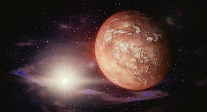 nuvole su Marte