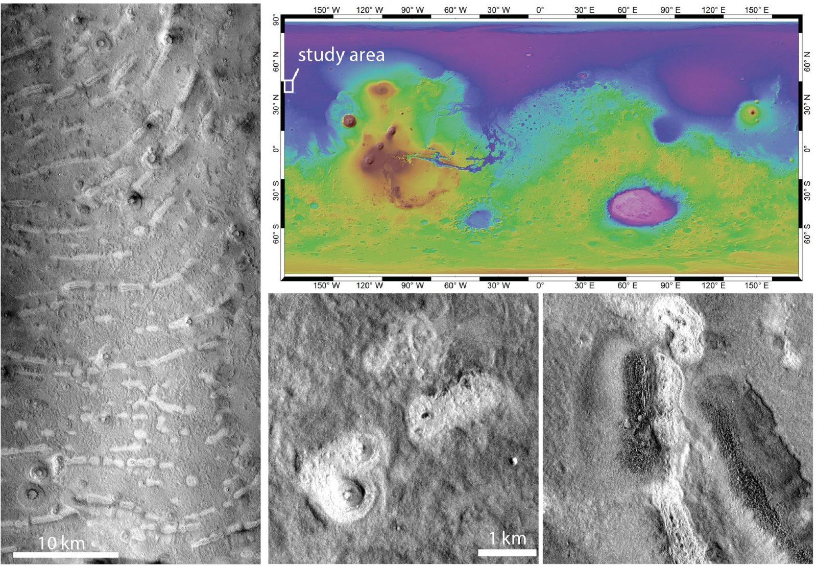marte vulcani di fango acqua geologia marziana