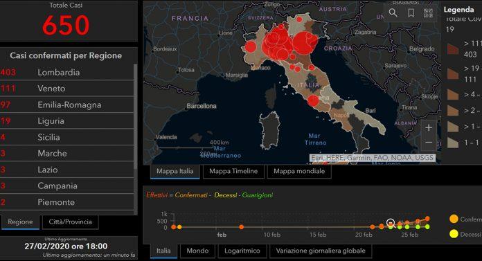 Mappa interattiva Covid-19
