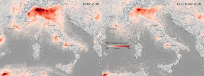 covid-19 inquinamento europa esa mappa