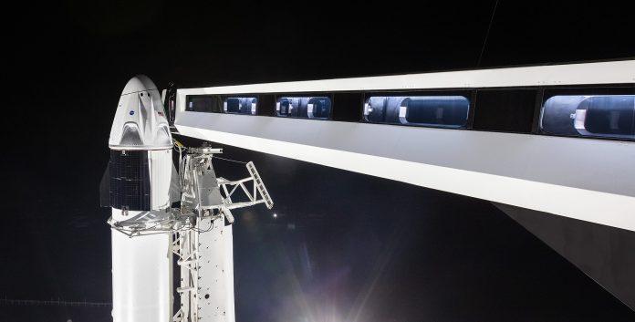 lancio SpaceX diretta crew dragon iss