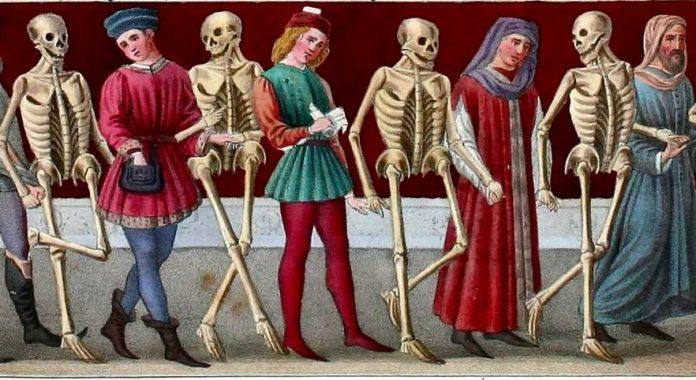scheletri danza macabra ossa
